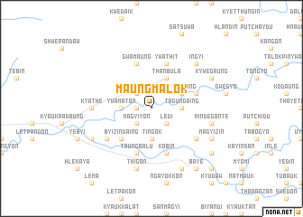 map of Maungmalok