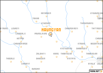 map of Maungyan