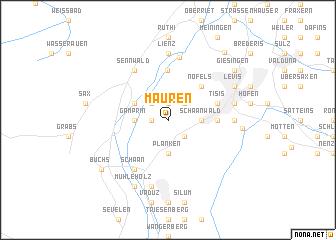 map of Mauren