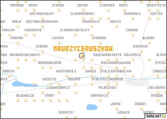 map of Maurzyce Ruszków