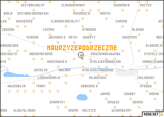 map of Maurzyze Podrzeczne