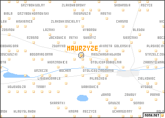 map of Maurzyze