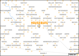 map of Mäuseburg