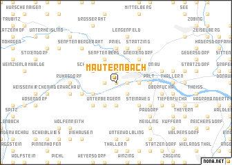 map of Mauternbach