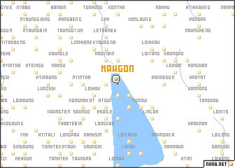 map of Mawgon