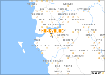 map of Mawgyaung