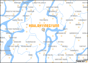 map of Mawlamyinegyunn