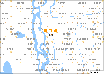 map of Mayabin