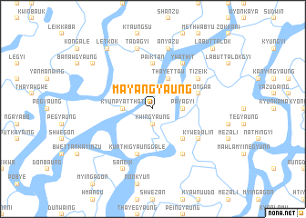 map of Mayangyaung