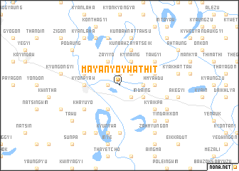 map of Mayanyo-ywathit
