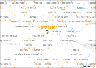 map of Mayerling