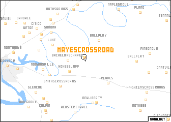 map of Mayes Crossroad