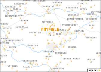 map of Mayfield