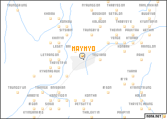 map of Maymyo
