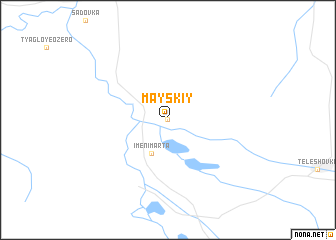 map of Mayskiy