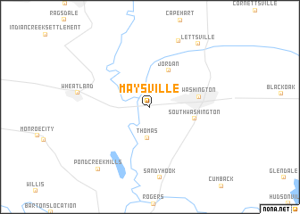 map of Maysville