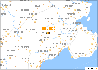 map of Mayuga