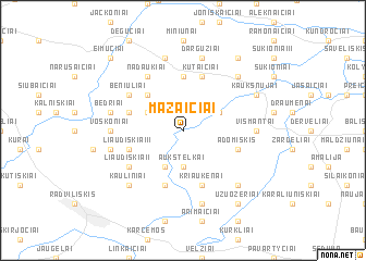 map of Mažaičiai