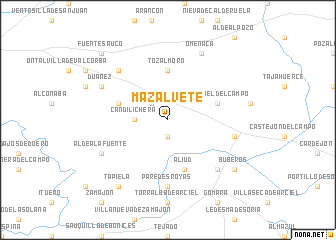 map of Mazalvete