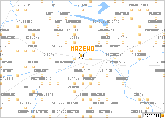 map of Mazewo