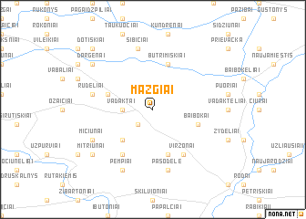 map of Mazgiai