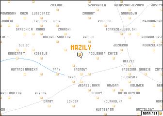map of Maziły