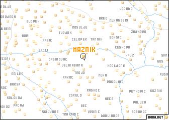 map of Maznik