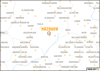 map of Mazoura