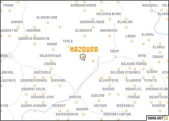map of Mazoura