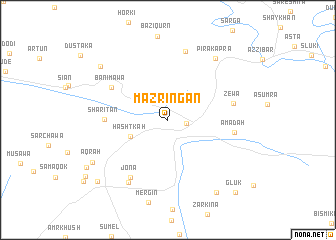 map of Mazringan
