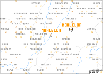 map of Mbalelon