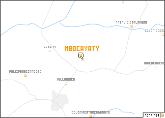 map of Mbocayaty