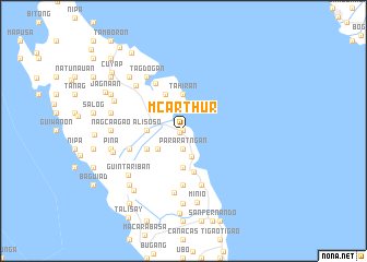 map of McArthur