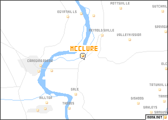 map of McClure