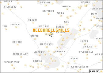 map of McConnells Mills
