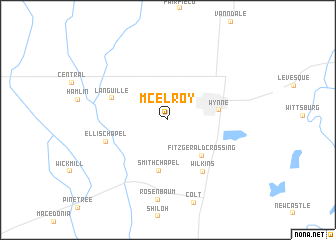 map of McElroy