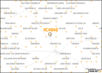 map of Mchowo
