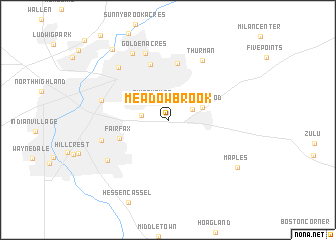 map of Meadowbrook
