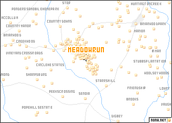 map of Meadow Run