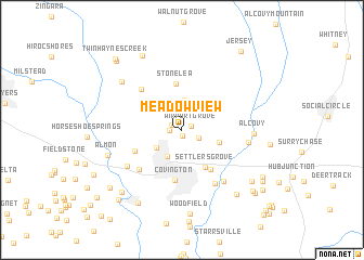 map of Meadow View
