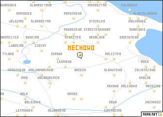 map of Mechowo