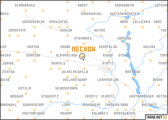map of Mechow