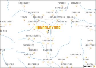 map of Medanlayang