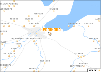 map of Mednikovo