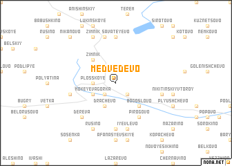 map of Medvedevo