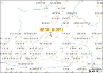 map of Megáli Vrísi