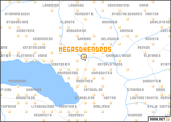 map of Mégas Dhéndros
