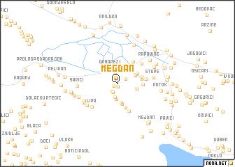 map of Megdan