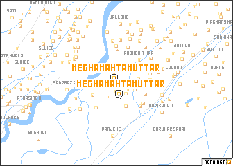 map of Megha Mahtam Uttār