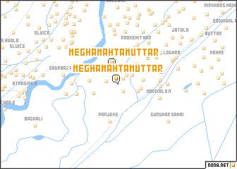 map of Megha Mahtam Uttār
